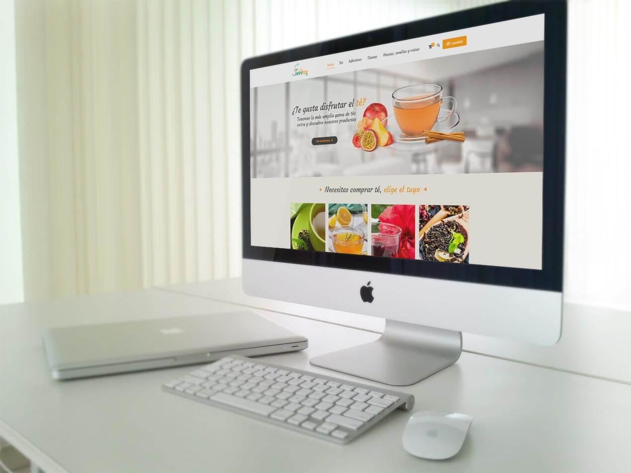 diseño web corporativo tienda de tés