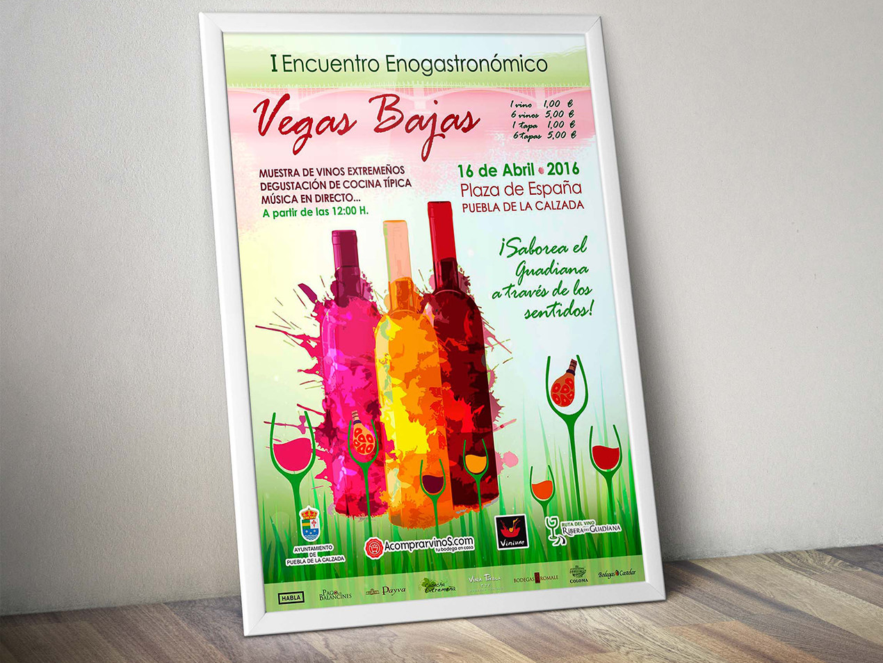 diseño cartel de vinos