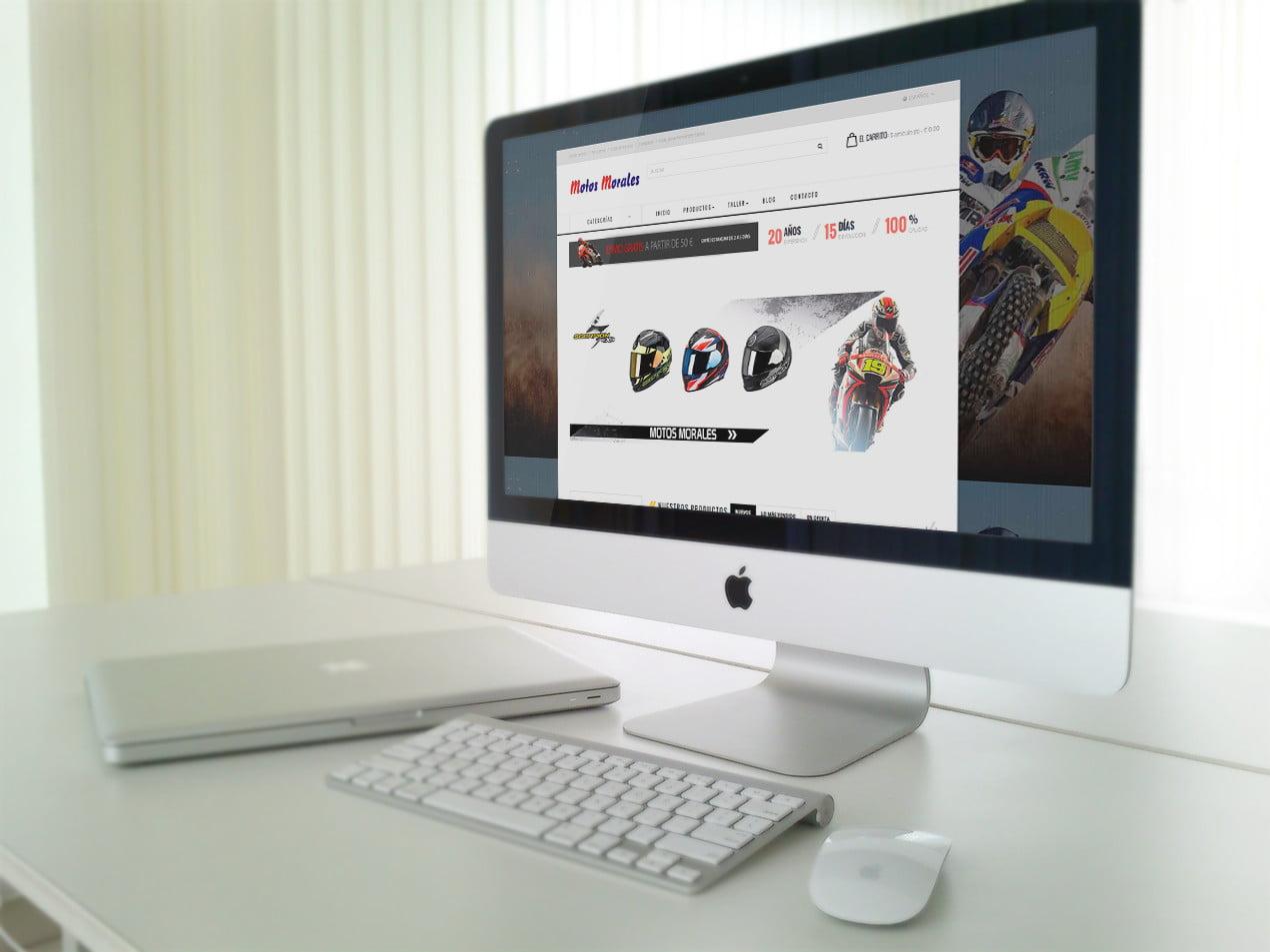 diseño tienda online de motos